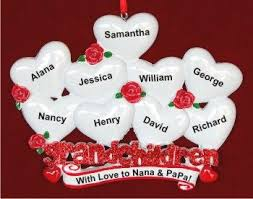 grandparent ornaments personalized sleepy christmas morning 5 grandkids family christmas ornament
