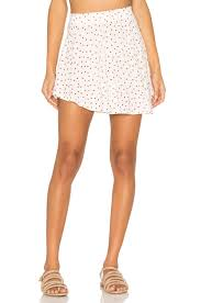 michael lauren citra flirty mini skirt red heart women bottoms