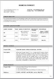 fresher resume exles resume sle for freshers professional resume format for freshers