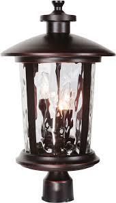 Outdoor Light Post Fixtures by Craftmade Z7125 88 Summerhays Oiled Bronze Gilded Outdoor Lamp