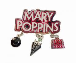 poppins ornaments enamel shinny nickel plated custom
