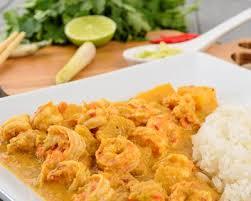 cuisiner crevette recette crevettes au curry et lait de coco