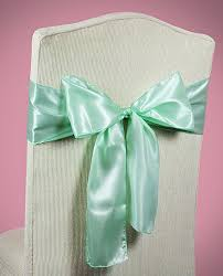 chair bows chair sashes mint green wedding chair sashes chair bows mint
