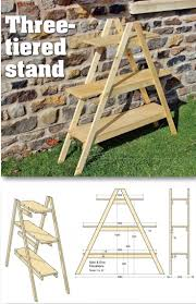 Shelf Ladder Woodworking Plans by Outdoor Plant Stand Plans Outdoor Plans And Projects