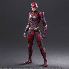 the flash justice league play arts kai action figure by square