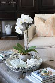 furniture orchid coffee table centerpiece strange decked styled spring house tour driven by decor