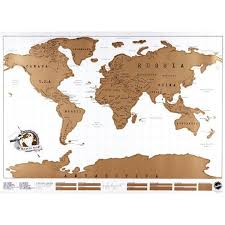 free map scratch world map white free shipping and gift
