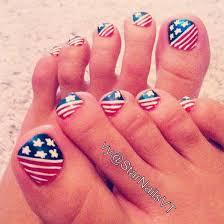 july 4th toe nail design nail designs pinterest toe nail