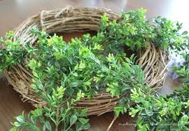artificial boxwood wreath diy farmhouse boxwood wreath table and hearth