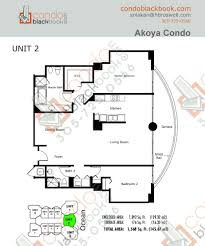 2 Bedroom Condo Floor Plans Akoya Unit 3502 Condo For Sale In North Beach Miami Beach