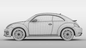 vw beetle turbo 2017 3d model vehicles 3d models detail 3ds max