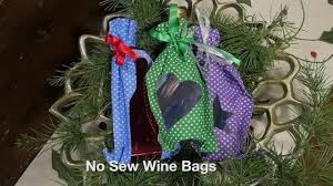 no sew wine bottle gift bags youtube