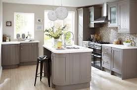 cooke and lewis kitchen cabinets cooke lewis carisbrooke taupe diy at b q 2132 galley kitchen