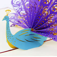 amazon com paper spiritz peacock pop up birthday card for wife