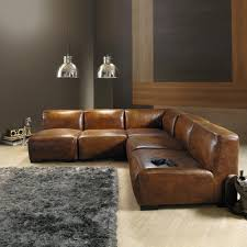 canapé cuir fauve angle de canapé en cuir marron chauffeuse marrons et cuir