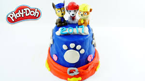 paw patrol idea cake doh chase marshall