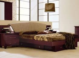 Brown Wood Bed Frame 25 Sized Beds With Storage Drawers Underneath