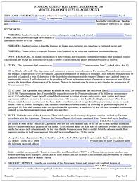 Rental House Lease Agreement Template Free Florida Residential Lease Agreement Template Pdf Word