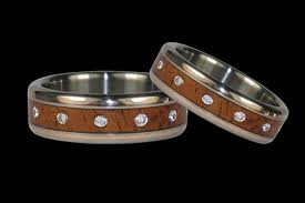 Wooden Wedding Rings by Wood Inlay Ring Ideal Weddings