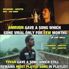 Indian Song Meme - south indian copycats 1 anirudh 2 gvprakash 3 harris jayaraj
