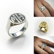 monogrammed ring letter monogrammed signet ring apollo s ring