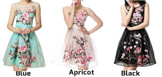 flower dress handmade embroidery flower organza party dress fashion dresses