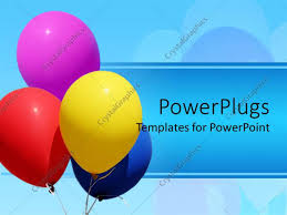 powerpoint template nice pretty colorful balloons floating in the