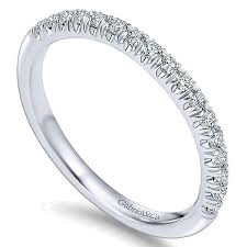 14k white gold wedding band 14k white gold 1 4cttw pave set diamond wedding band