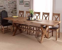 x leg dining table chateau solid oak x leg extending dining table with normandy x back