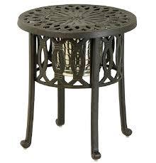Black Cast Aluminum Patio Furniture Cast Aluminum Side Table U2013 Tratamientos Co