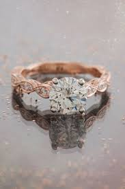 Rose Gold Wedding Rings by Wedding Rings Fitted Wedding Band Contour Wedding Band White