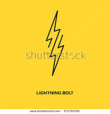 bolt vector icon lightning symbol electric stock vector 572792095