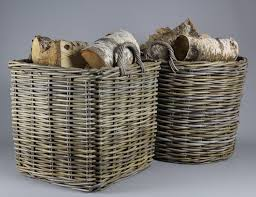 firewood baskets and log storage boxes