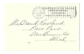bureau des pensions covers united states postal history