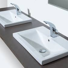 enchanting bathroom sinks and faucets ideas using rectangular semi