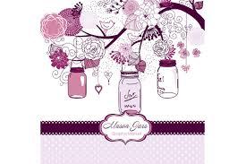 hand drawn mason jars card template illustrations creative market