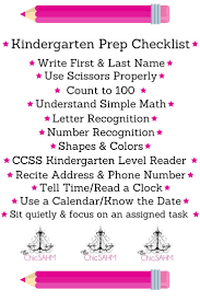 best 25 kindergarten checklist ideas on pinterest kindergarten