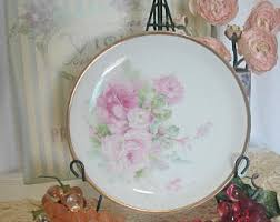 Shabby Chic Plates by Cabbage Rose Plate Etsy