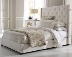 innsbruck upholstered sleigh bed in silver linen humble abode