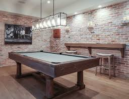 pool table l shade replacement gaming desks exposed brick walls rustic feel and exposed brick