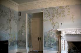 Chinoiserie Dining Room by Chinoiserie Landscape Mural Traditional Dining Room Chicago