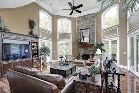 Decorating Ideas For Living Rooms With High Ceilings Living Room With High Ceilings Decorating Ideas Meliving