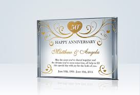 50th anniversary plates you can engrave happy 50th anniversary gift for parents anniversary