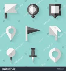 Push Pin Map Flat Icon Set Push Pin Map Stock Vector 166105538 Shutterstock