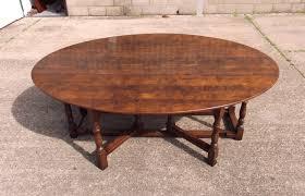 ANTIQUE FURNITURE WAREHOUSE Large Antique Oval Oak Table - Antique oak kitchen table