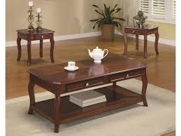 Coffee Table 3 Piece Sets Coaster Occasional Table Sets Traditional 3 Piece Occasional Table