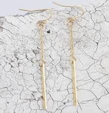 gold dangle earrings minimalist gold dangle earrings willrandalldesigns