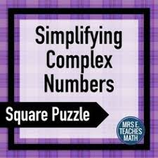 complex number imaginary maze review worksheet caryn