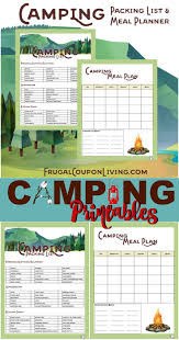 Menu Planner With Grocery List Template Best 25 Camping Meal Planner Ideas Only On Pinterest Beach Body