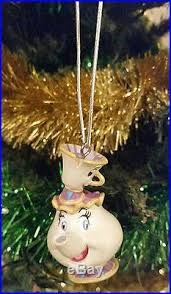 mrs potts chip tree ornament new beast tea pot cup
